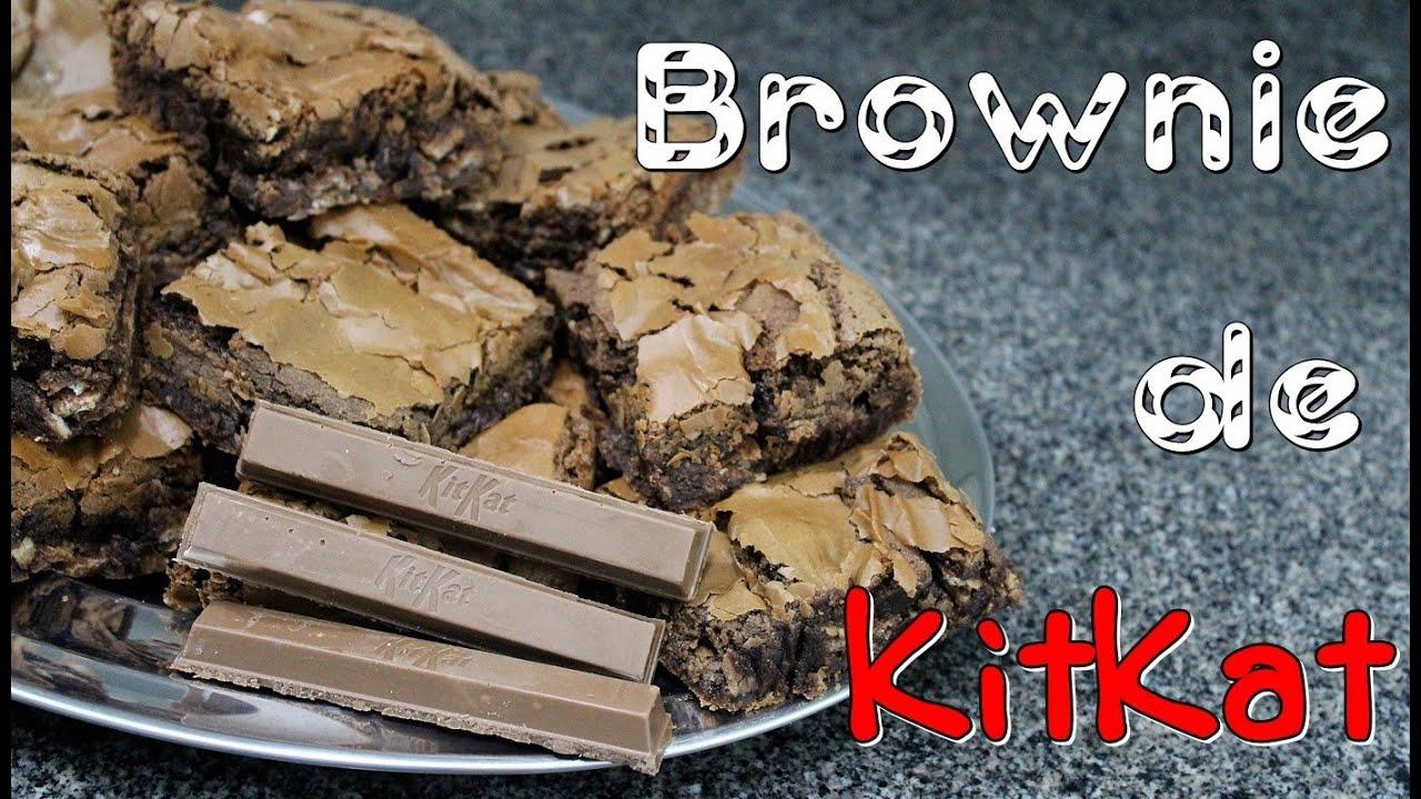 how to make kit kat brownies