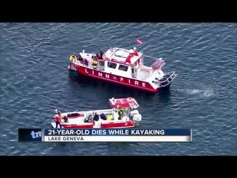 Tragic Fishing Accident In Lake Geneva >> Man Drowns In Kayak Accident Youtube