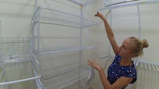 видео: Выбор гардеробной с сетчатой системой Леруа Мерлен