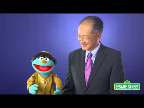 Sesame Streets Raya and World Bank Group President Jim Kim Talk Potty Habits