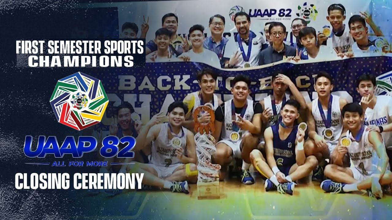 First Semester Sports Champions   UAAP Season 82 Closing Ceremony - ABS-CBN Sports
