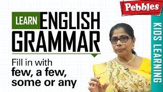 Learn English Grammar | Fill in with few, a few, some or any | Determiner | Basic English Grammar
