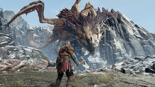 God of War PS4 - Dragon Boss Fight #8 (Give Me God of War Hard Difficulty) (4K)