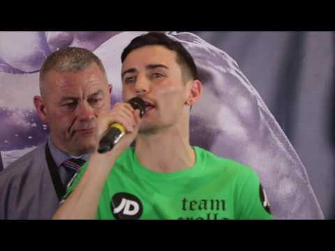 ANTHONY CROLLA THANKS PEOPLE OF MANCHESTER & MOSS SIDE FIRE FIGHTERS GYM RECEIVE £5,000