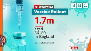 Covid-19: Vaccine offers for those aged 56 or over ???? @BBC News live - BBC