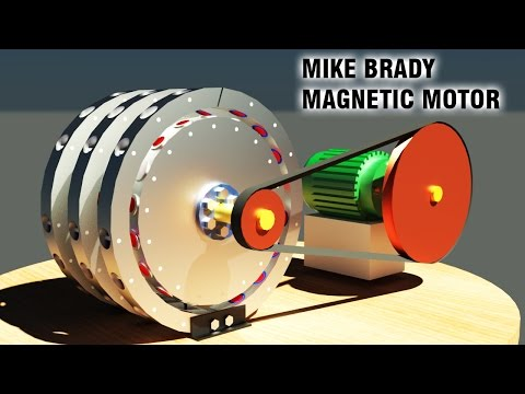Free Energy Generator, Mike Brady Permanent Magnet Machine,