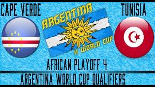 Cape Verde vs Tunisia - Argentina WCQ Playoffs - Leg 1