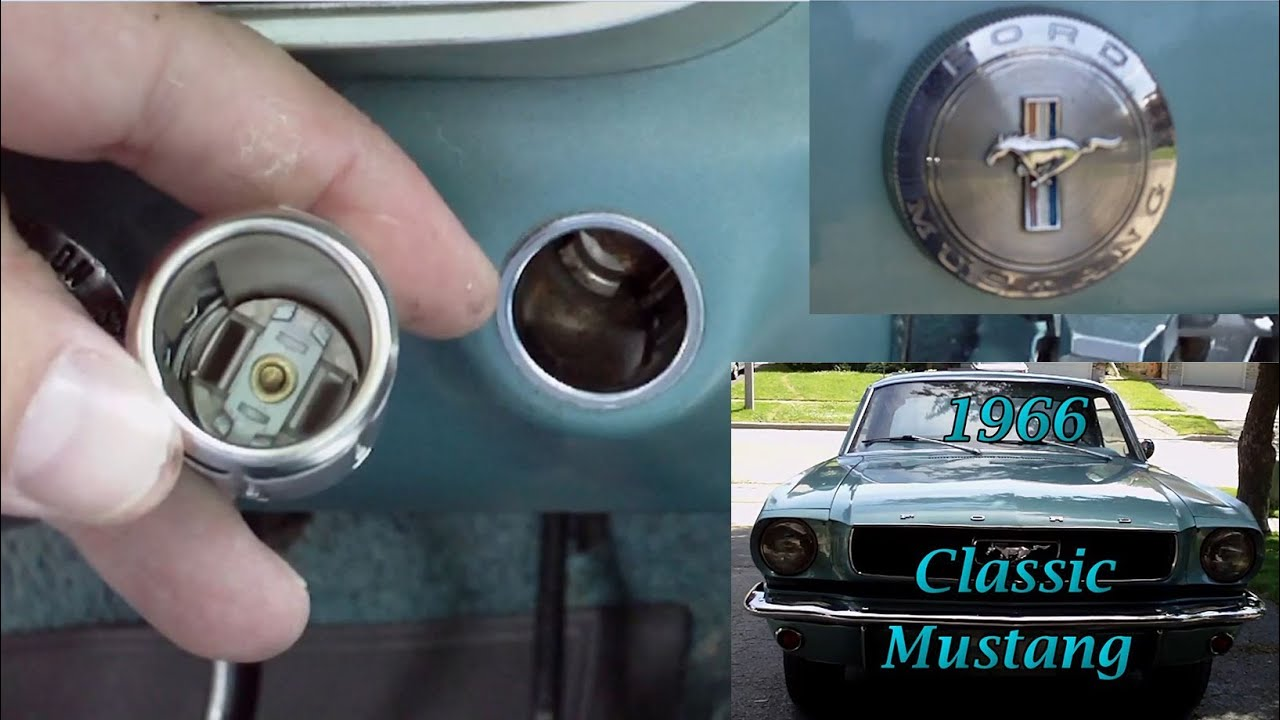 Car Cigarette Lighter  How To Remove and Replace  Classic Mustang  YouTube