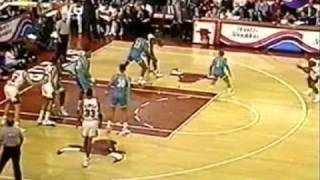 Jordan drops 52 points and 2 facial dunks on Alonzo Mourning & The Hornets