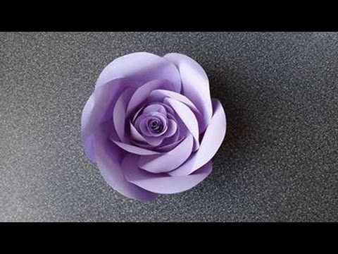 How to make a paper rose flower type 5 youtube mightylinksfo