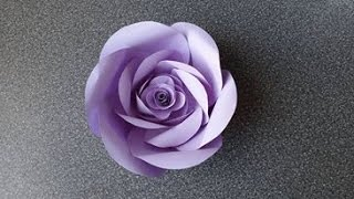 Repeat youtube video How to Make a Paper Rose Flower (type 5)