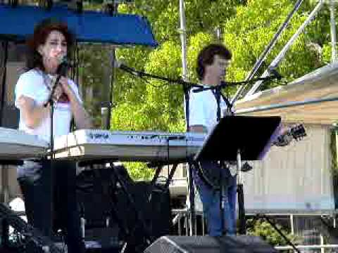 Charlie Hackett (Davis)  greets, talks about Autism and Therese Holliday at Lake Fair 2009