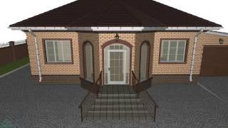 Проект одноэтажного дома «Эркер» с гаражом   B-214-ТП(, 2016-10-29T12:16:01.000Z)