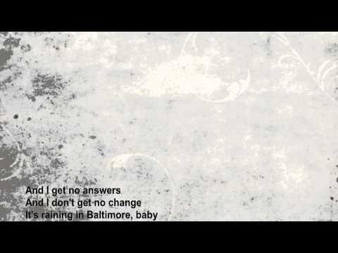 Counting Crows - Raining in Baltimore (lyrics)