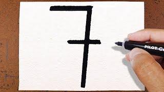 """Como Transformar o Número """" 7 """" Na Wanda dos Padrinhos Mágicos"""