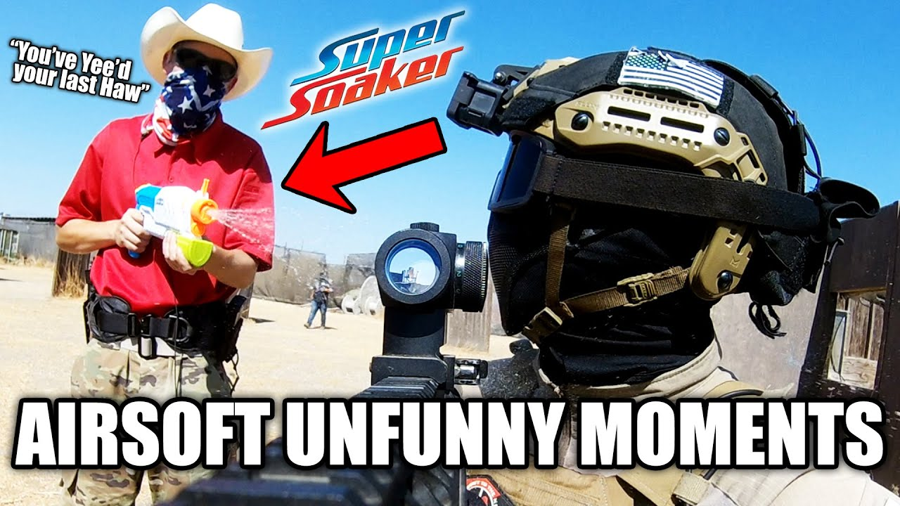Airsoft Unfunny Moments 09 - Bananas, Trumpets, and Super Soakers!