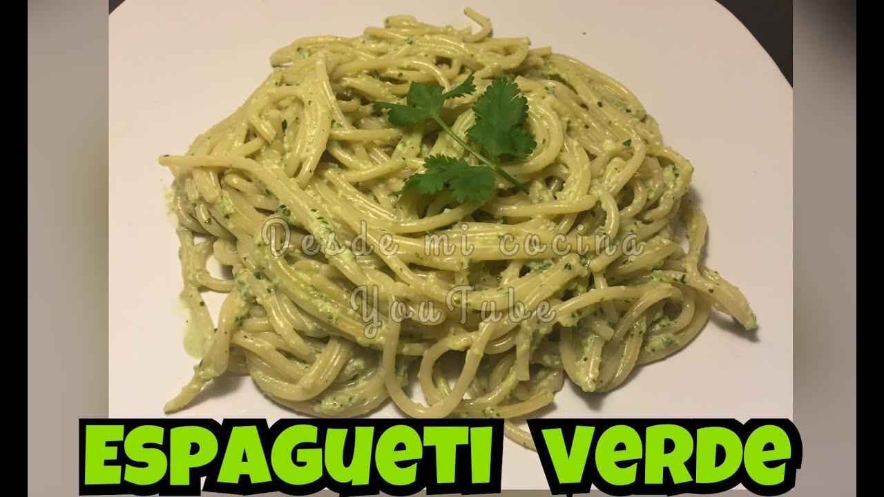 Espagueti Verde Super Facil Mexican Green Spaghetti Desde Mi Cocina By Lizzy
