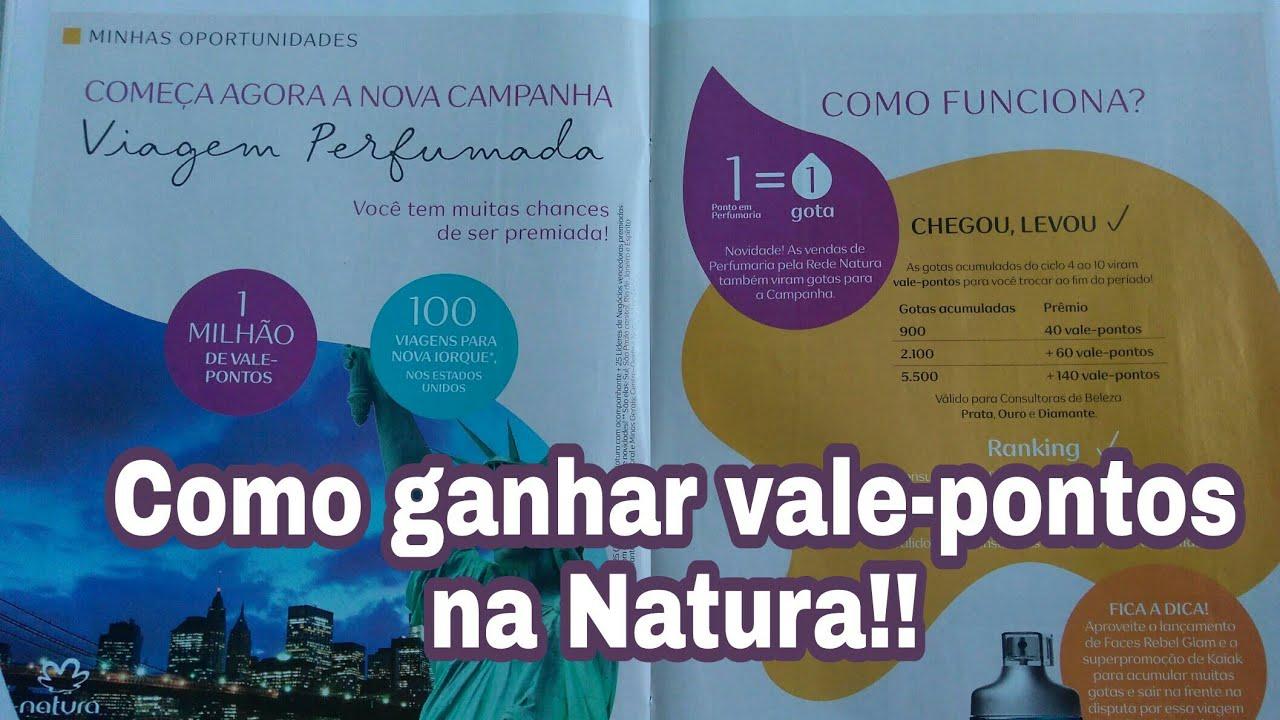 Como ganhar vale-pontos na Natura!! Campanha viagem perfumada 2018. #1