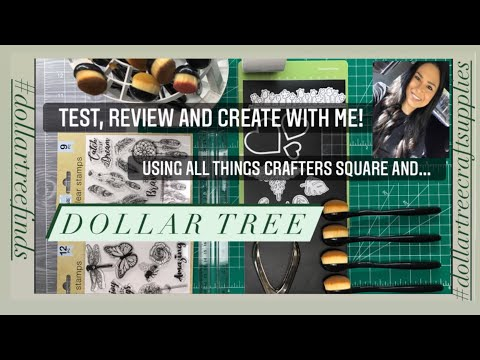 Dollar Tree Haul 2021|Crafters square|Crafting Staples|Testing Products|DIY Craft Mat tutorial