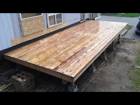 Building The New Deck - Mobile Home Renovation : E016 / BC Renovation Magazine