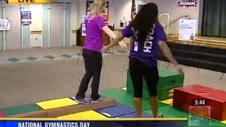 National Gymnastics Day - South Bay YMCA (KFMB TV 9/27/13 5:00am)