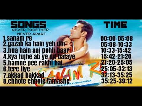 'SANAM RE' Songs || JUKEBOX || Pulkit Samrat, Yami Gautam || Divya Khosla Kumar