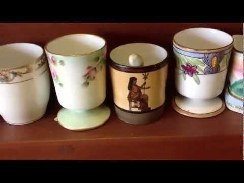 Antique China, Nippon porcelain toothpick collection. Vast!