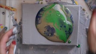 Easy Flip Cup Technique | Fluid Painting | Acrylic Paint Pour | Silicone Oil | Jasvir Kambo