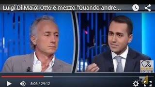 """Luigi Di Maio: Otto e mezzo """"Quando andremo al governo"""" (INTEGRALE)"""