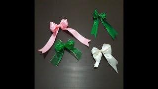 cara sederhana membuat pita // how to make simple bow