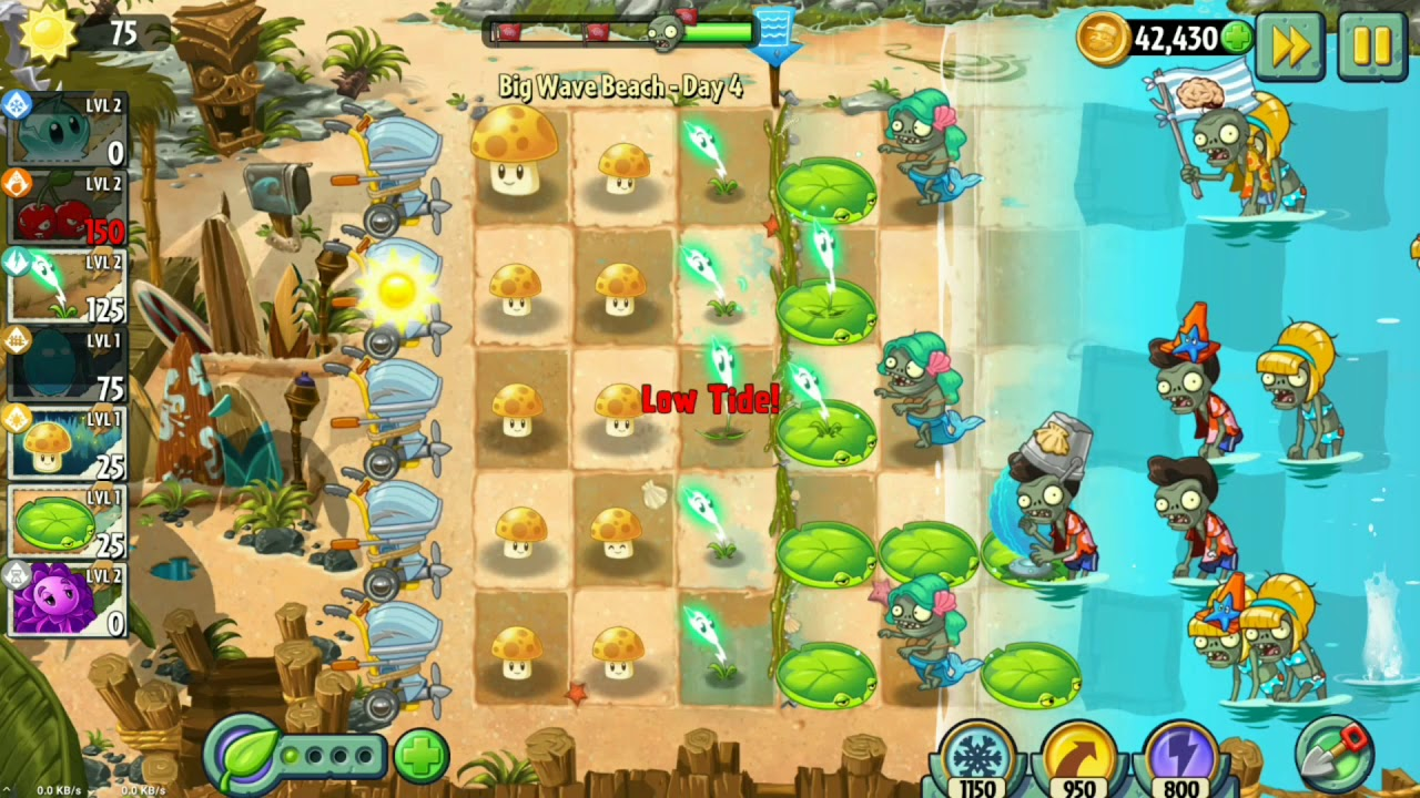 bos plants vs zombies 2 pvz 2 big wave day 4