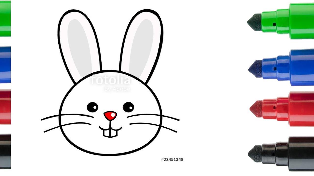 Tavşan Kafası Nasıl çizilir çocuklar Için Resim çizme Ve Boyama