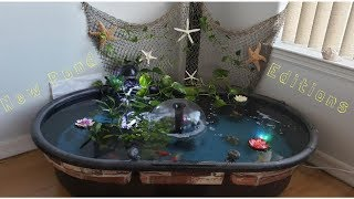 Small Indoor Pond New GoldFish Editions | How To Set Up An Indoor Apartment/Balcony/ Patio Pond