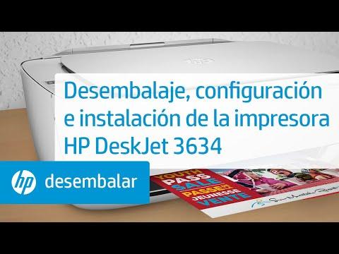 Desembalaje, configuración e instalación de la impresora HP DeskJet 3634 | HP DeskJet | HP