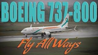 Fly Allways Boeing 737-800 #wetrunway take-off