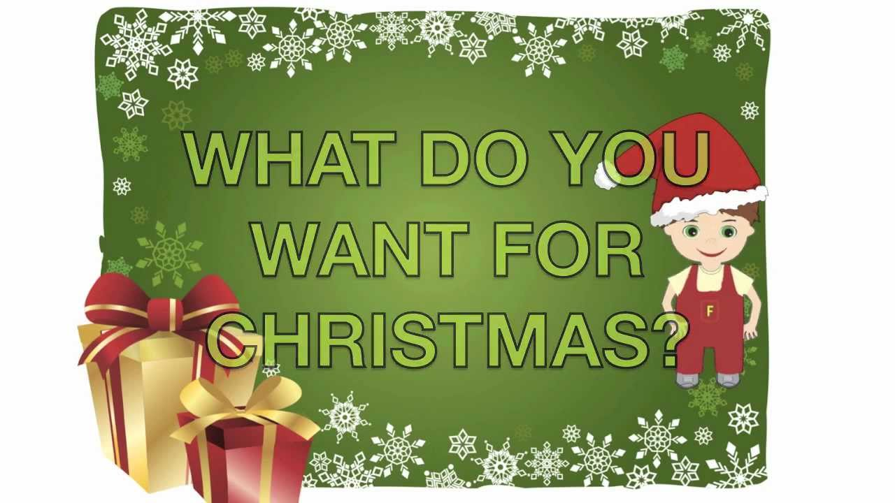 Fredy quotWhat do you want for Christmasquot YouTube