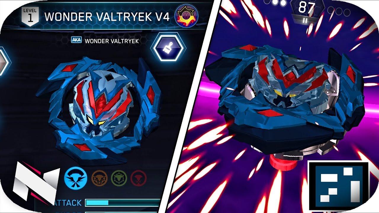 Wonder Valtryek V4 Gameplay Qr Code Beyblade Burst App