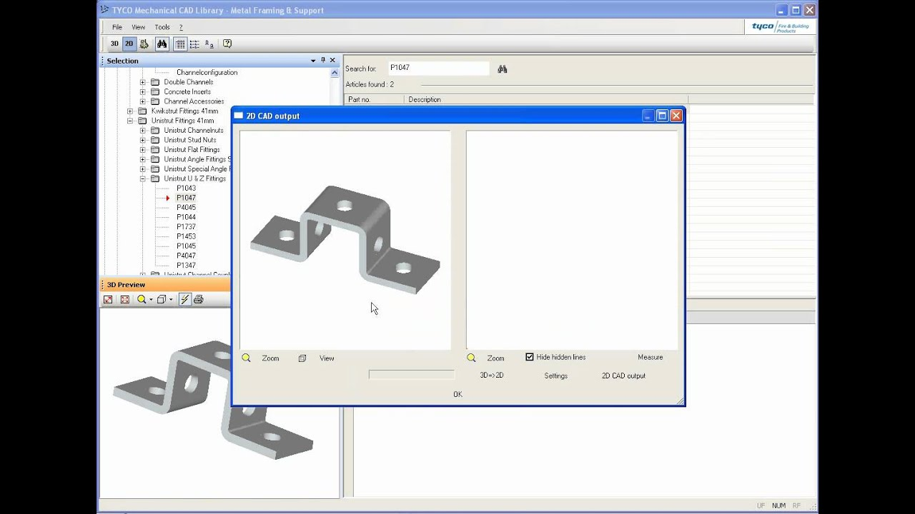Tyco Mechanical CAD Library - Demo