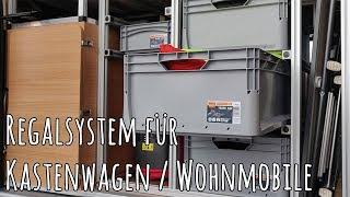 Regalsystem für mehr Stauraum im Kastenwagen / Wohnmobil / Fiat Ducato #Regal #Wohnmobil