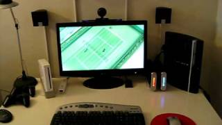 Nintendo Wii & Sony Playstation 3 hooked up to my Acer H233H 1080p LCD