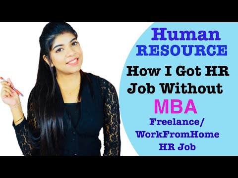 How To Get HR Job Without Experience Or MBA | Freelance,Part-Time | Platforms To Apply Job