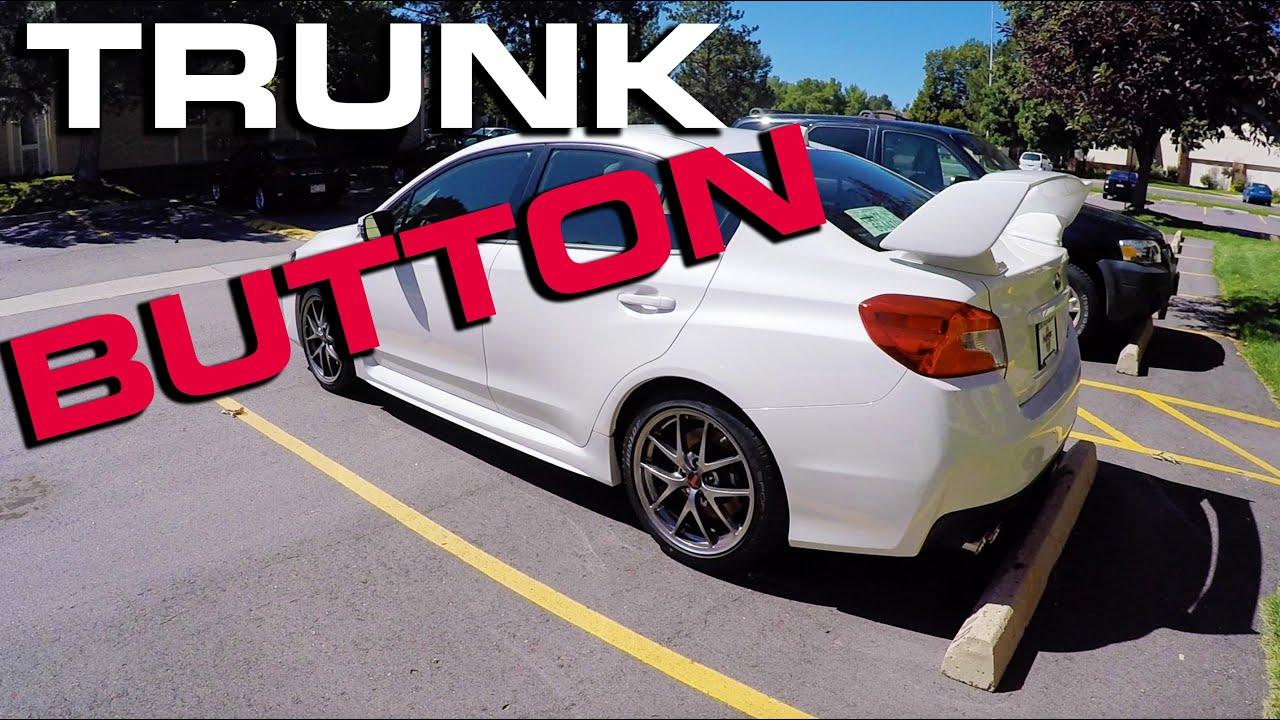 2016 Subaru Sti Hidden Trunk Release Youtube