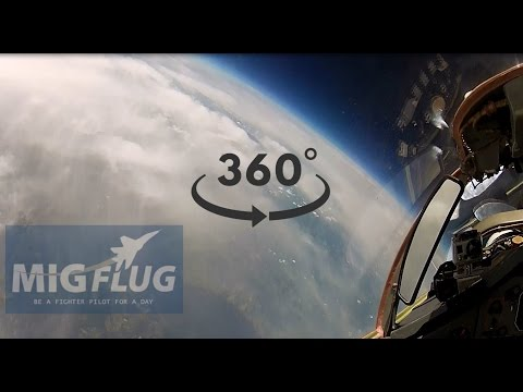 High Altitude Fighter Jet Flight 360°
