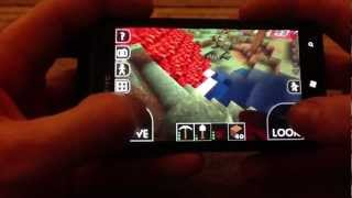Survivalcraft Gameplay #5 Alpha1.8 On The Htc Titan(for Android And Windows Phone)