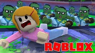 Roblox | Escape The Zombie Pool Obby | 2 Player!