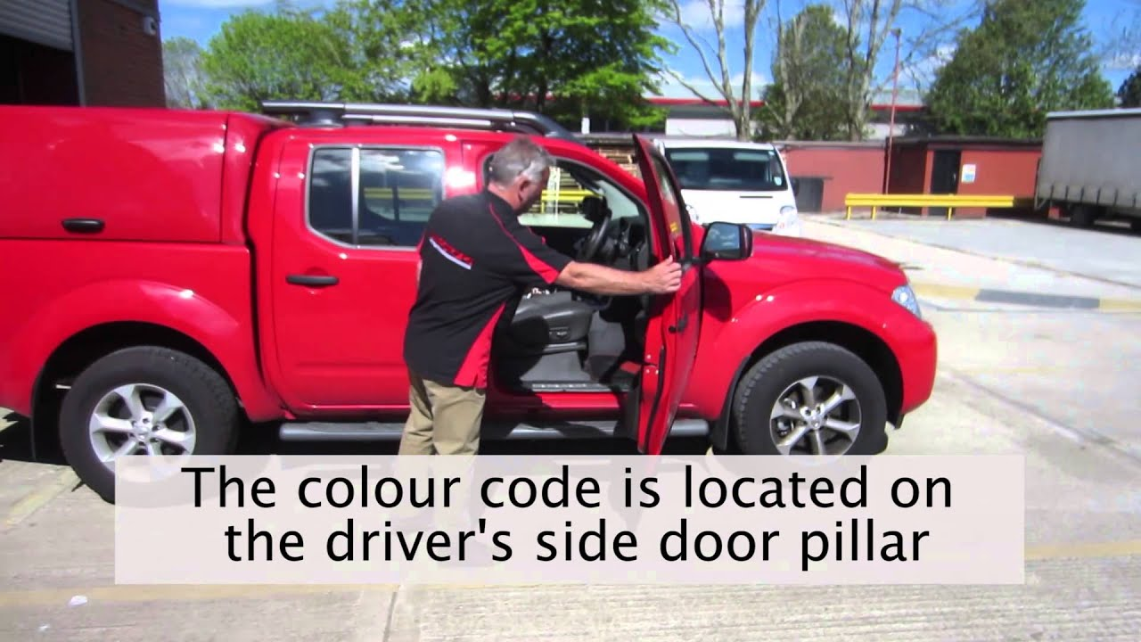Car colour codes - How To Find The Colour Code For The Nissan Navara D40 Mk2
