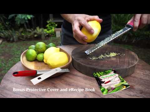 Cheftoolkits Zester Grater Demo Video