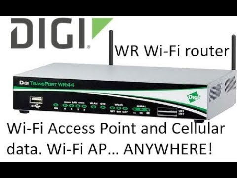 Digi TransPort router configured as a Wi-Fi access point with mobile  (cellular) data connection