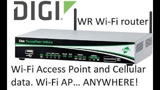 digi transport router configured as a wi fi access point with mobile cellular data connection