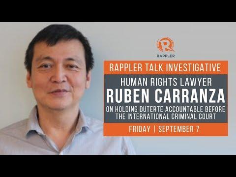 Rappler Talk: Lawyer Ruben Carranza on holding Duterte accountable in ICC